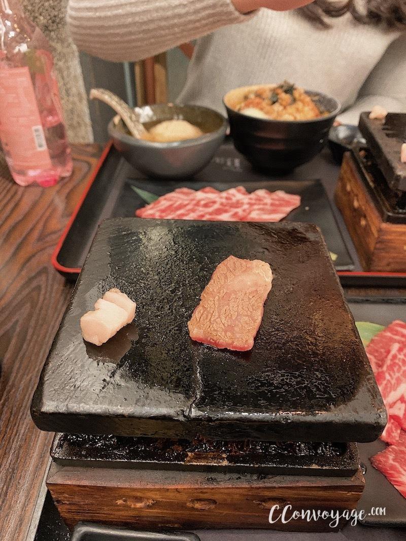 石燒一口牛肋肉